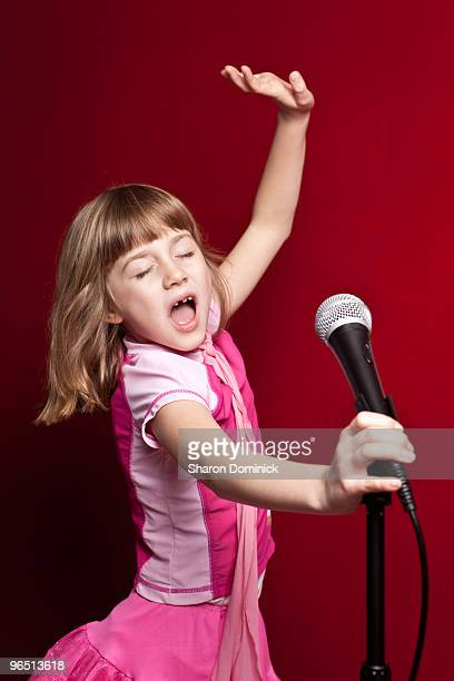 Passionate Young Singer