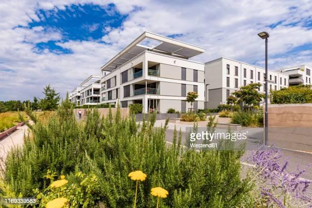 passive house development area, bahnstadt, heidelberg, germany - heidelberg stock-fotos und bilder