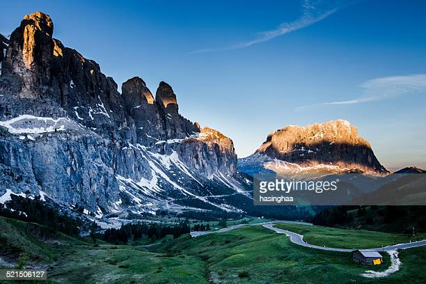Passo Gardena view point mountain of Dolomite