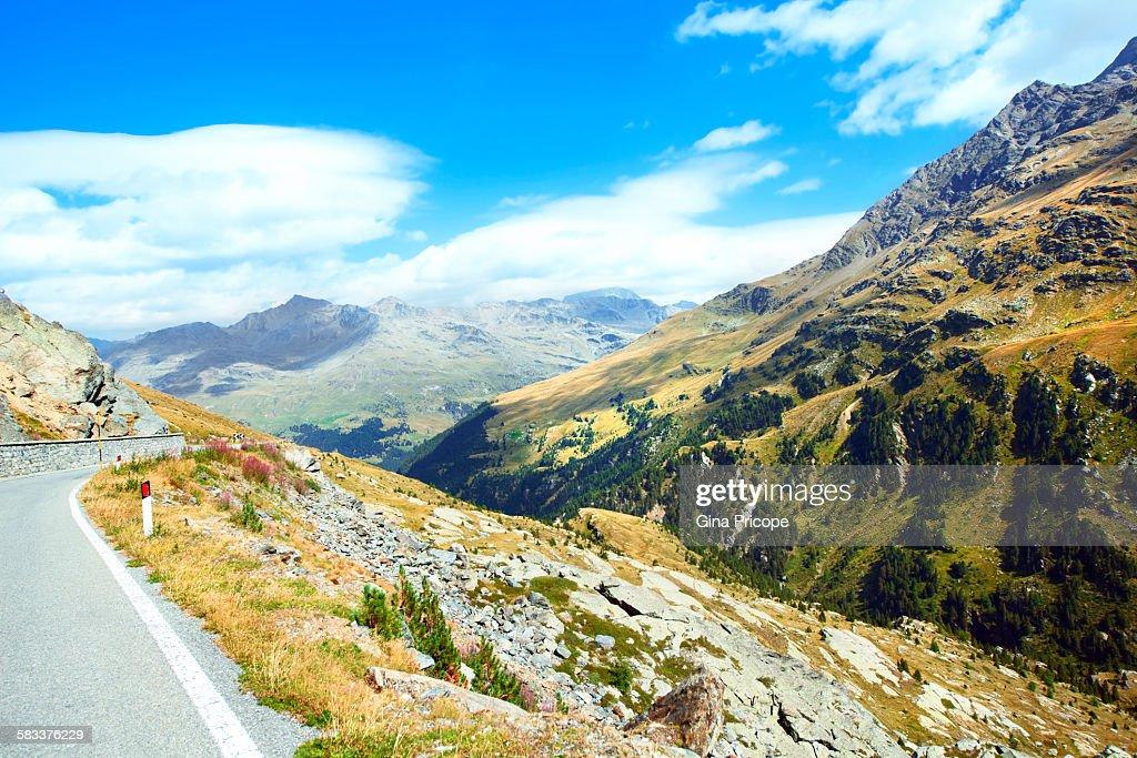 Passo Gavia, the road to Santa Valfurva. : Stock Photo