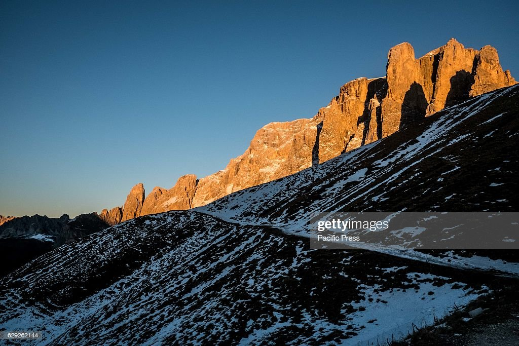 Passo Sella is a place situated at 2,244 meters in Italy... : Nachrichtenfoto