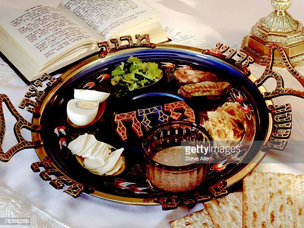 passover food - passover seder plate stock pictures, royalty-free photos & images