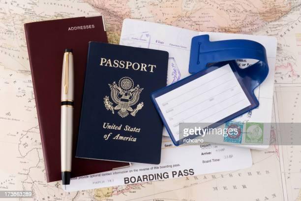 Passeport & poste d'impression des cartes d'embarquement