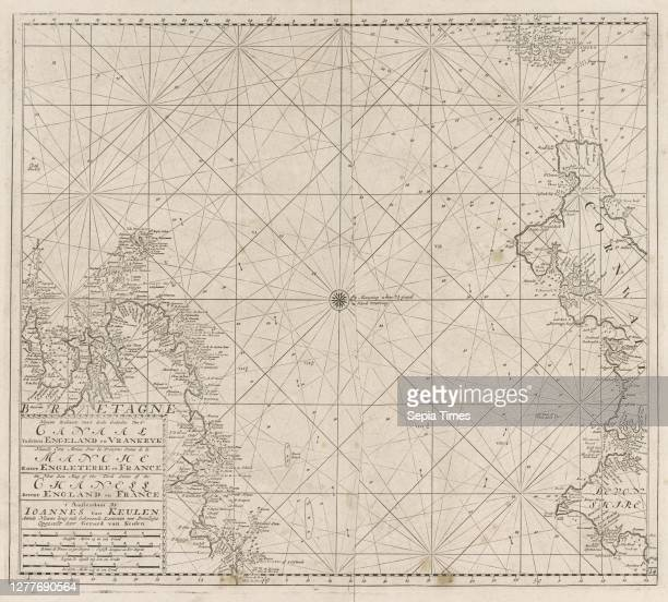 Passport card of the Channel between England and France part 3 New Sea chart of the third Part of the Canal between England and Vrankryk Pass card of...