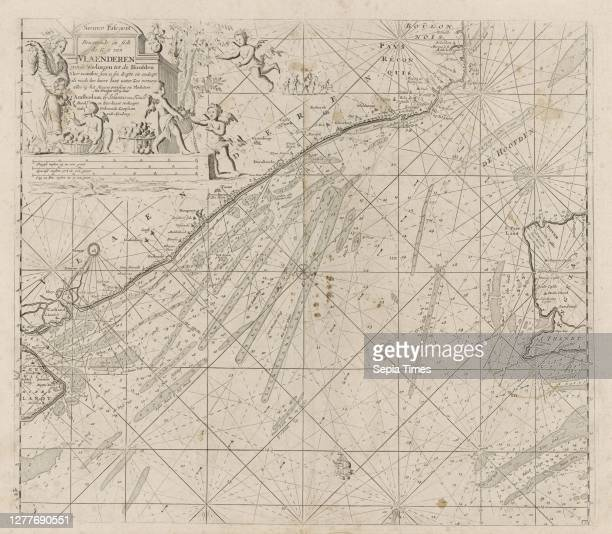 Passport card of the northern access to the Channel with the coasts of Flanders France and England New Pascaert Containing in itself the Coast of...