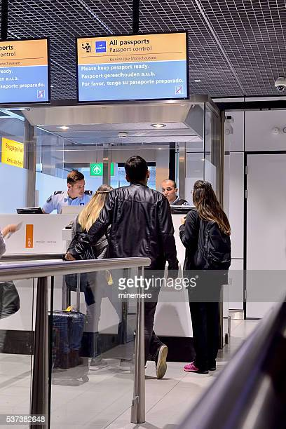 Passport control at Schipol Airport