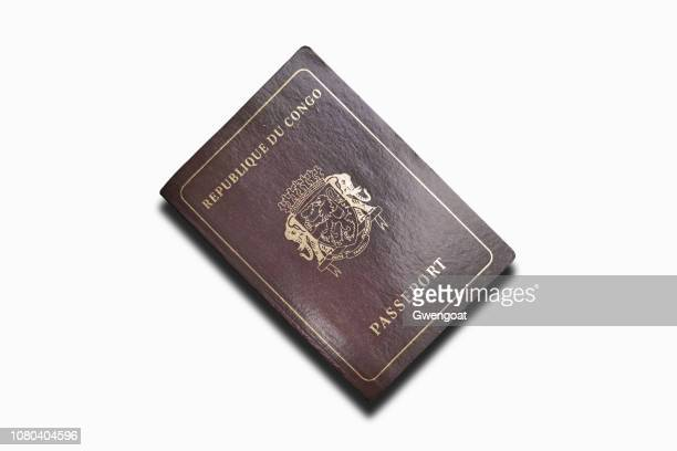 Passport of the Republic of the Congo isolated on a white background