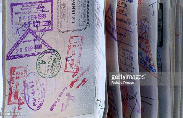 Passport pages.