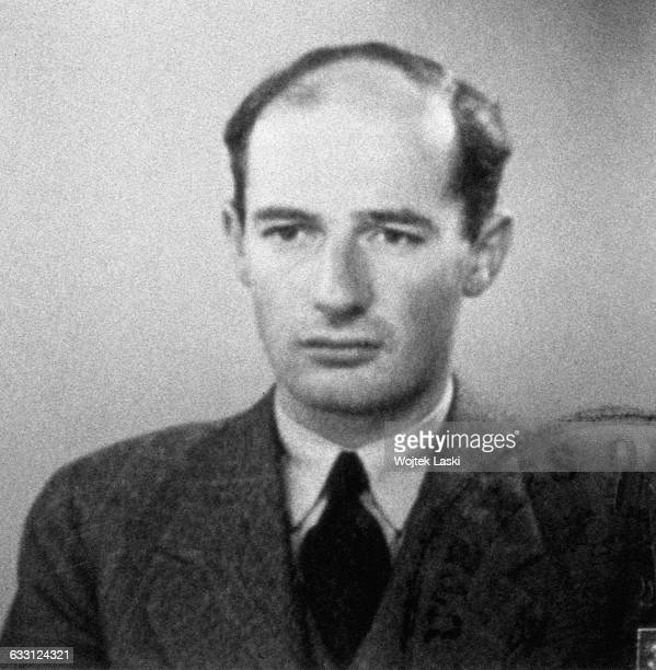 A passport photograph of Swedish architect businessman and diplomat Raoul Wallenberg taken in Budapest Hungary in June 1944 Wallenberg saved...