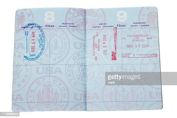 passport - passport stamp stock photos and pictures