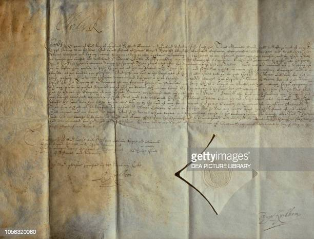 Passport signed in Greenwich by Charles I United Kingdom, 17th century.