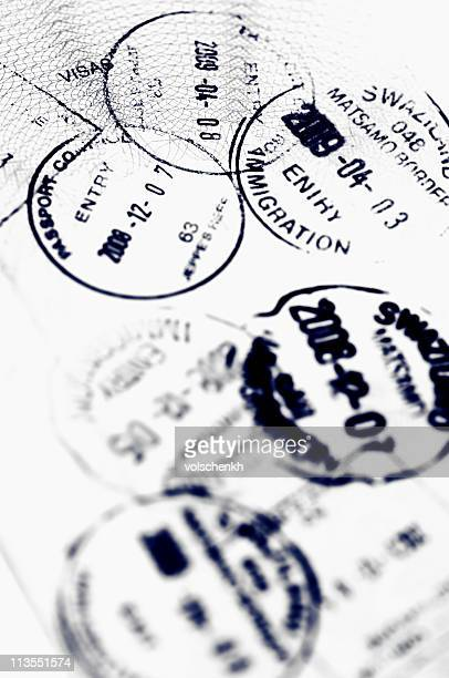 passport stamps - immigration law stock pictures, royalty-free photos & images