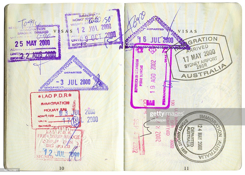 passport stamps-2 : Stock Photo