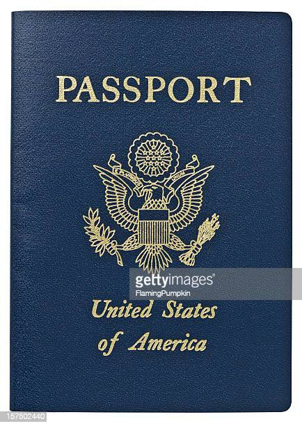 passport - usa. clipping path. - american stock pictures, royalty-free photos & images