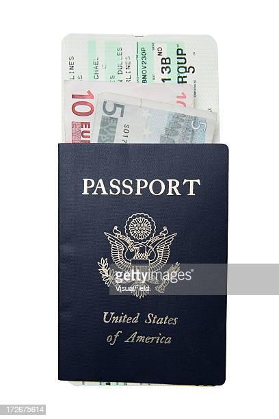 Reisepass mit Bordkarte &,-EUR