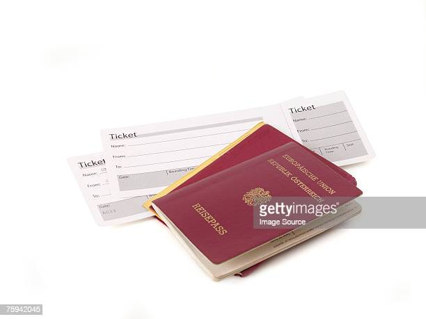 Passports and airplane tickets