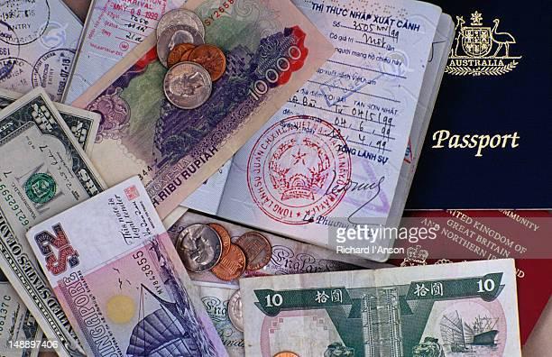 Passports and money.