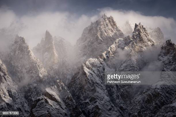 Passu cathedral mountain peak in a morning, Gilgit Baltistan, Pakistan
