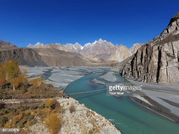 passu, hunza, pakistan - hunza valley stock pictures, royalty-free photos & images