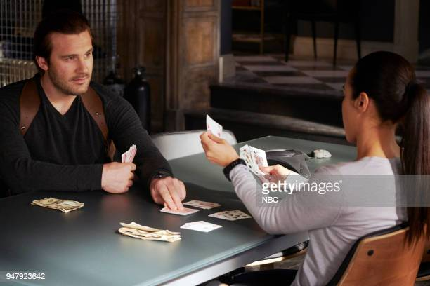 """Password"""" Episode 211 -- Pictured: Clive Standen as Bryan Mills, Jessica Camacho as Santana --"""