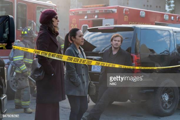 "Password"" Episode 211 -- Pictured: Jennifer Beals as Christina Hart, Jessica Camacho as Santana, Clive Standen as Bryan Mills--"