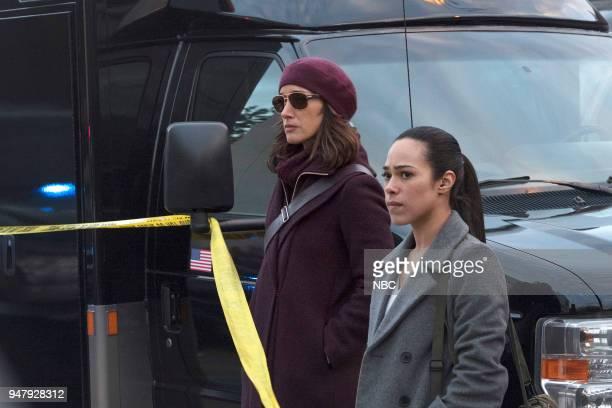 "Password"" Episode 211 -- Pictured: Jennifer Beals as Christina Hart, Jessica Camacho as Santana --"