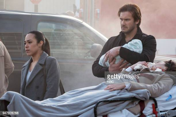 """Password"""" Episode 211 -- Pictured: Jessica Camacho as Santana, Clive Standen as Bryan Mills --"""