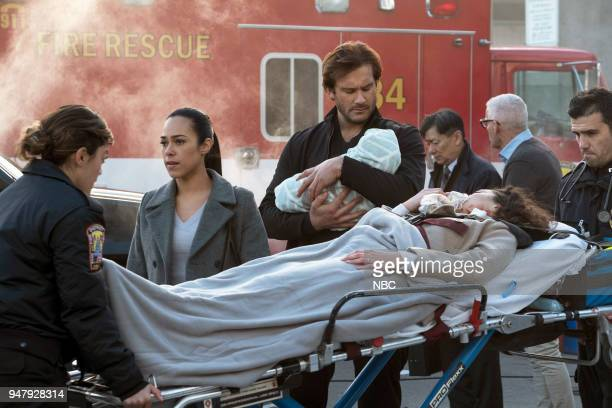 """Password"""" Episode 211 -- Pictured: Jessica Camacho as Santana, Clive Standen as Bryan Mills--"""