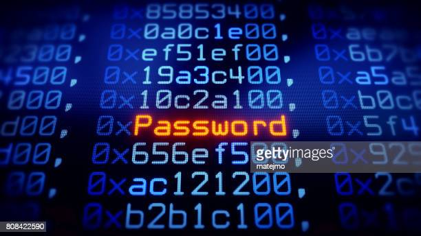 password on blue data grid - password stock pictures, royalty-free photos & images