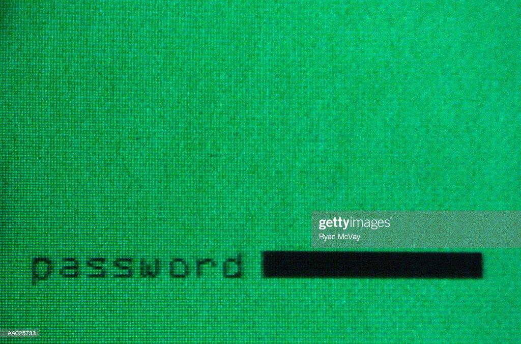 Password Prompt : Stock Photo