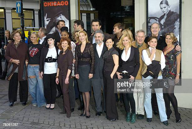 Past and present cast of the musical 'Chicago' attend a photocall prior to the 10th anniversary charity performance at the the Cambridge Theatre...