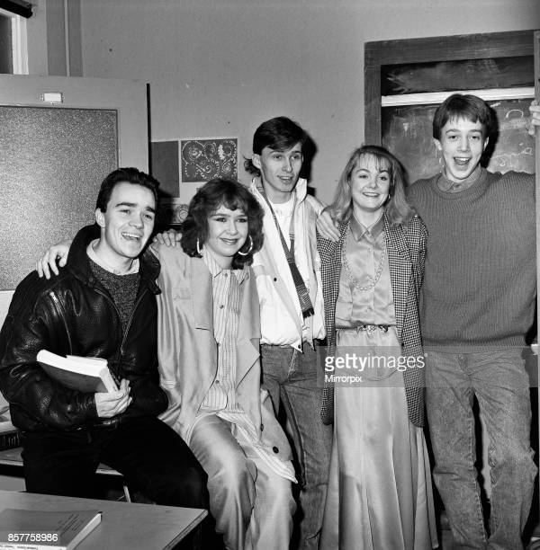 Past and present members of the cast of the BBC children's television series Grange Hill celebrate the programme's 10th anniversary at the BBC in...