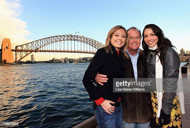 Past and present Today Show presenters Allison Langdon Monti Dwyer and Giaan Rooney pose together before going live onair as part of the Today Show...