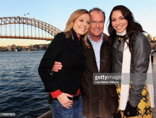 Past and present Today Show presenters Allison Langdon Monti Dwyer and Giaan Rooney pose for a photo before going live onair as part of the Today...