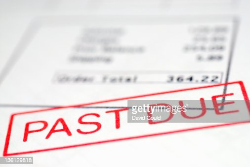 past due stamp on overdue account stock photo getty images