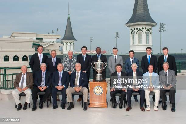 Past PGA Champions Phil Mickelson Mark Brooks John Daly Keegan Bradley Vijay Singh Martin Kaymer Rory McIlroy Padraig Harrington Shaun Micheel Doug...