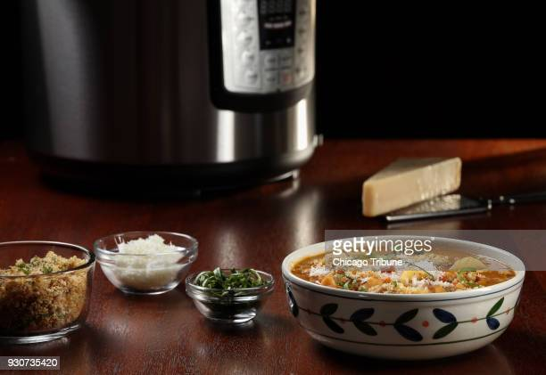 Pasta fagioli comes together all in one pot with the beans pasta and flavoring elements cooking together