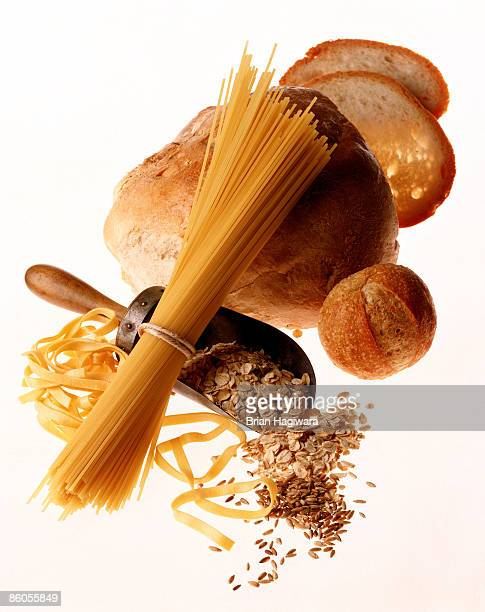 Pasta , grains , and breads