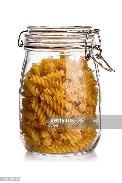 pasta in a jar - glasburk bildbanksfoton och bilder