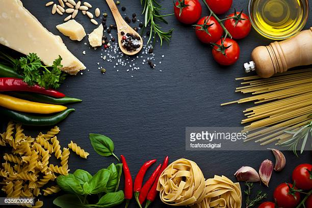 pasta ingredients - italy stock pictures, royalty-free photos & images
