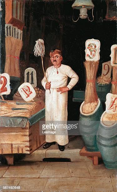 A pasta seller by unknown artist 19th century Museo Nazionale delle Paste Alimentari Rome Italy