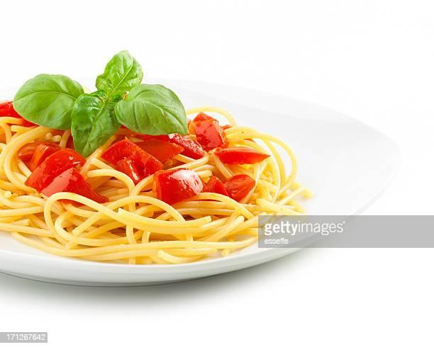 pasta: spaghetti con salsa de tomate