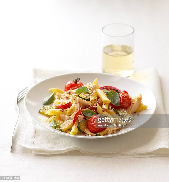 Pasta with Basil Tomatoes Parmesan and Zucchini