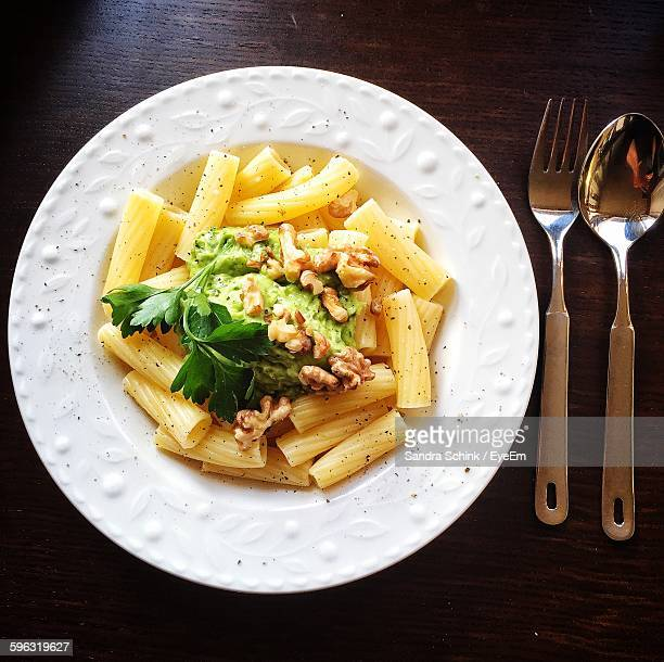 Pasta With Meat On Plate