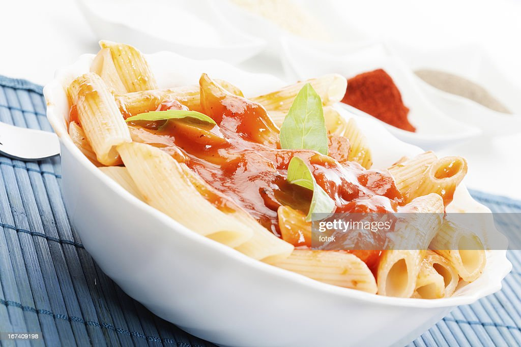 Pasta with tomato sauce : Stock Photo