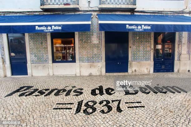pasteis de belem, lissabon - provincie lissabon stockfoto's en -beelden