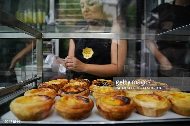 FERNANDES 'Pasteis de nata' Lisbon's typical pastry are pictured at Nata's Cafe in Lisbon on August 10 2012 Under the slogan 'The world needs Nata'...