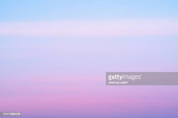pastel blue and pink sky - heaven stock pictures, royalty-free photos & images