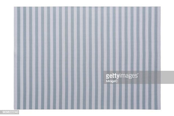 Pastel Blue Stripy Placemat on White