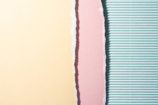 Pastel Color Layered Torn Paper